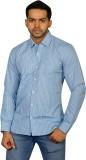 Ruti Men's Checkered Formal Light Blue S...