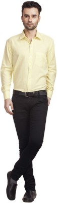 Zuricch Men's Solid Casual Yellow Shirt