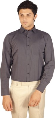 Kriss Men's Solid Casual Grey Shirt