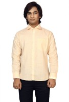 Raghuphool Formal Shirts (Men's) - Raghuphool Men's Solid Formal Orange Shirt