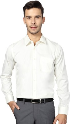 University of Oxford Men's Striped Formal White Shirt