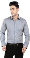 Salwar Studio Formal Shirts (Men's) - Salwar Studio Men's Solid Formal Grey Shirt