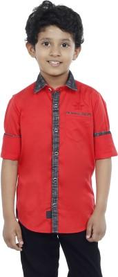 OKS Boys Boy's Solid Casual Red Shirt