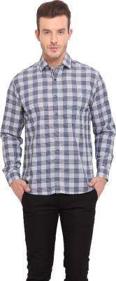 Ennoble Men's Checkered Casual Grey Shirt