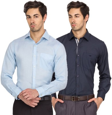 Logo Apparel Men,s Solid Formal Multicolor Shirt