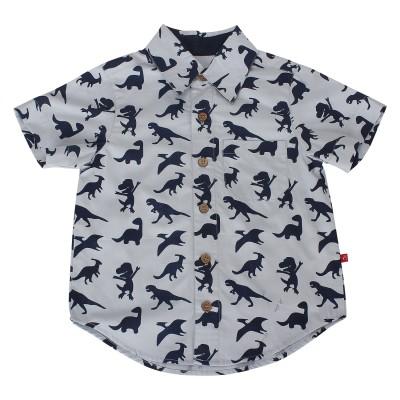 Nino Bambino Boy's Printed Casual Grey Shirt
