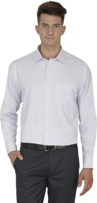 Kingswood Men's Checkered Formal White Shirt