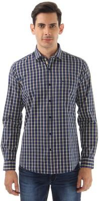 Monte Carlo Men's Checkered Casual Blue Shirt
