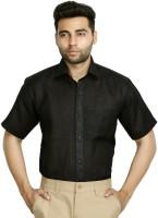 Studio Nexx Formal Shirts (Men's) - Studio Nexx Men's Solid, Woven Formal Black Shirt