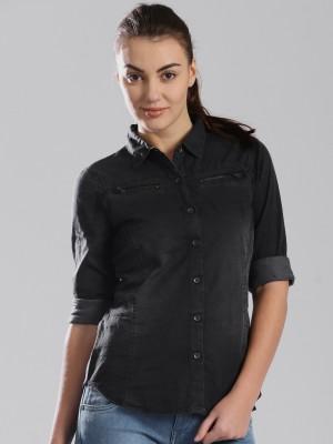 HRX by Hrithik Roshan Women's Solid Casual Grey Shirt
