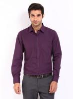 Alnik Formal Shirts (Men's) - Alnik Men's Solid Formal Purple Shirt