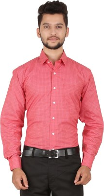 Stylo Shirt Men's Checkered Casual Red Shirt