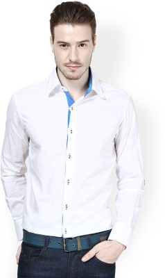Protext Men,s Solid Casual White Shirt