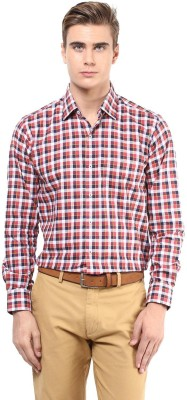 The Vanca Men's Checkered Formal Red Shirt