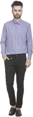 Zuricch Men's Solid Casual Blue Shirt