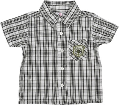 Baby Pure Baby Boy's Checkered Casual Multicolor Shirt
