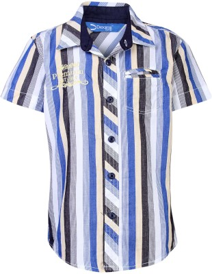 Dreamszone Boys Striped Casual Blue, Yellow Shirt