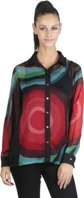 JAPPSHOP Women's Graphic Print Casual Multicolor Shirt