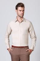 Allen Solly Formal Shirts (Men's) - Allen Solly Men's Solid Formal Beige Shirt