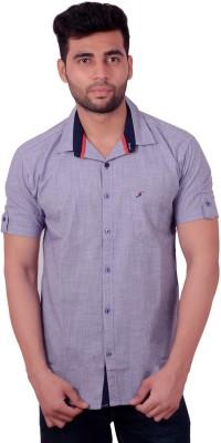 Studio Nexx Men's Checkered Casual Purple Shirt