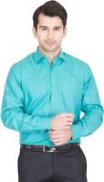 John Hupper Formal Shirts (Men's) - John Hupper Men's Solid Formal Light Green Shirt