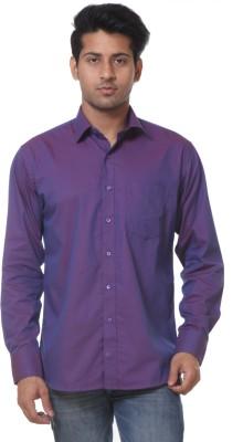 Call In France Men's Self Design Casual Purple Shirt
