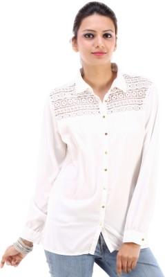 Urban Religion Women's Self Design Party White Shirt