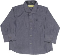 Gini & Jony Baby Boys Solid Casual Dark Blue Shirt best price on Flipkart @ Rs. 496