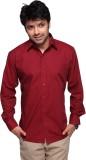 DHK Men's Self Design Casual Red Shirt