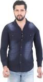 Meraki Men's Self Design Casual Blue Shi...