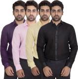 Deekshavastra Men's Solid Casual Yellow ...