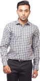 FA French America Men's Checkered Formal...