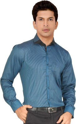 Red Country Men's Striped Casual Blue Shirt