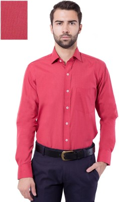 Tag & Trend Men's Solid Formal Red Shirt