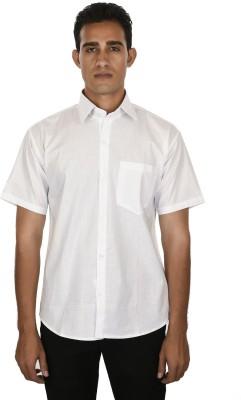 Venga Men's Solid Casual White Shirt