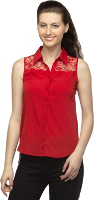 Bantry Women's Solid Casual Red Shirt