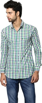 Saffire Men,s Checkered Formal, Casual Grey Shirt