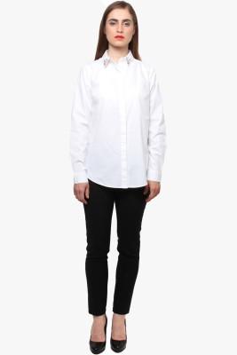 XnY Women's Solid Casual White Shirt