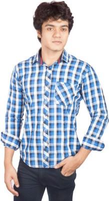 A Flash Men's Checkered Casual Multicolor Shirt