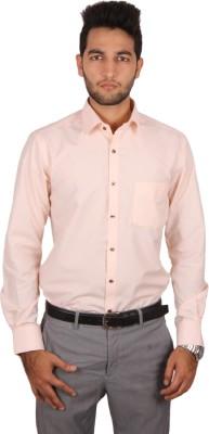 Styllus Men's Solid Formal Beige Shirt