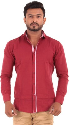 The G Street Men's Striped Casual Red Shirt