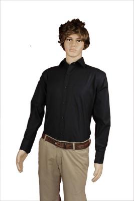 Eco-Solar Garments Men,s Solid Casual Black Shirt