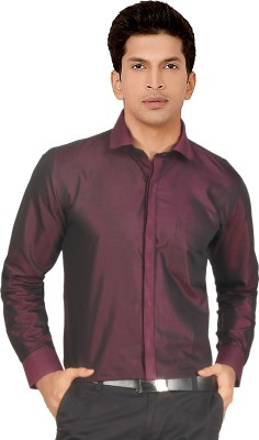 Red Country Men's Solid Casual Red, Maroon Shirt