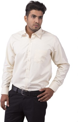 Indian Weller Men's Checkered Formal Yellow Shirt