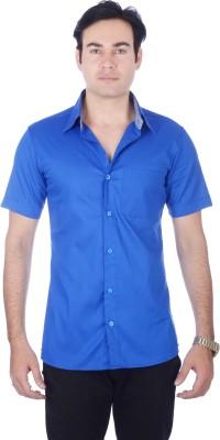 Darzii Men's Solid Casual Dark Blue Shirt