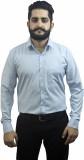 Aces Blue Men's Solid Formal Blue Shirt
