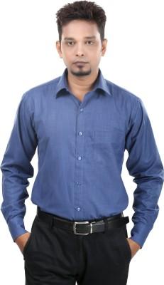 Bellavita Men,s Solid Formal Dark Blue Shirt