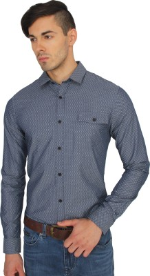 Calvin Klein Men's Printed Casual Grey Shirt