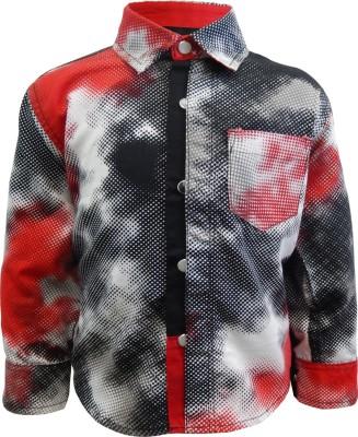 Kooka Kids Boy's Solid Casual Red, Black Shirt