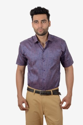 Studio Nexx Men's Solid Formal Purple Shirt